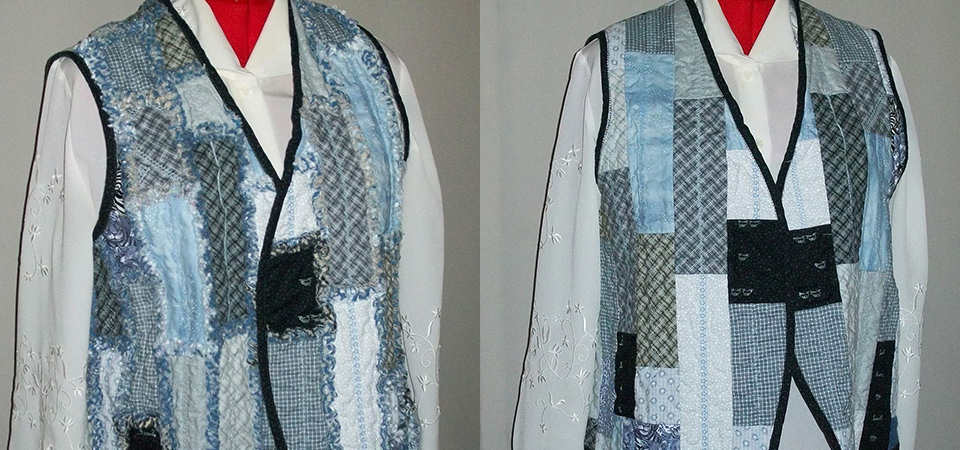 vest front before and after