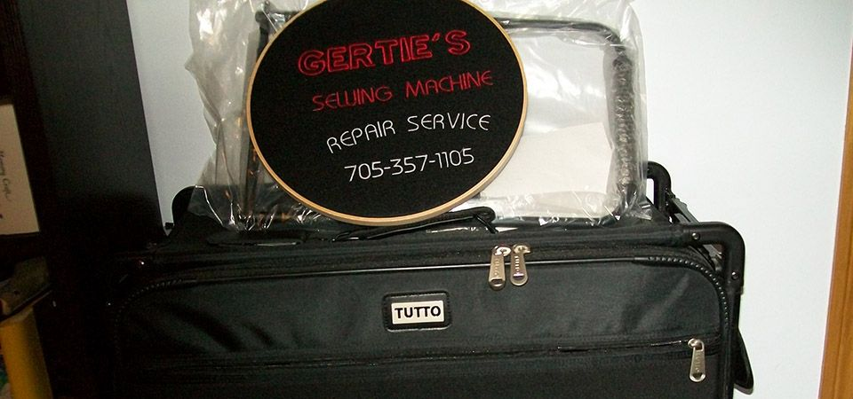 Gertie's Sewing Machine Repair Service - sign